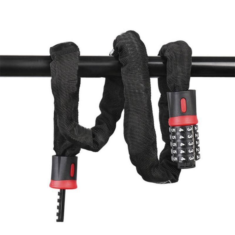 1.5M Bicycle Lock Chain Lock Anti-theft Password Lock Mountain Bike Electric Motorcycle Chian Lock Cable