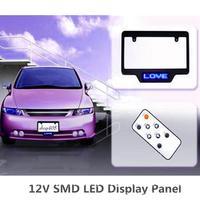 12V SMD LED car sign programmable scrolling display number LED display panel
