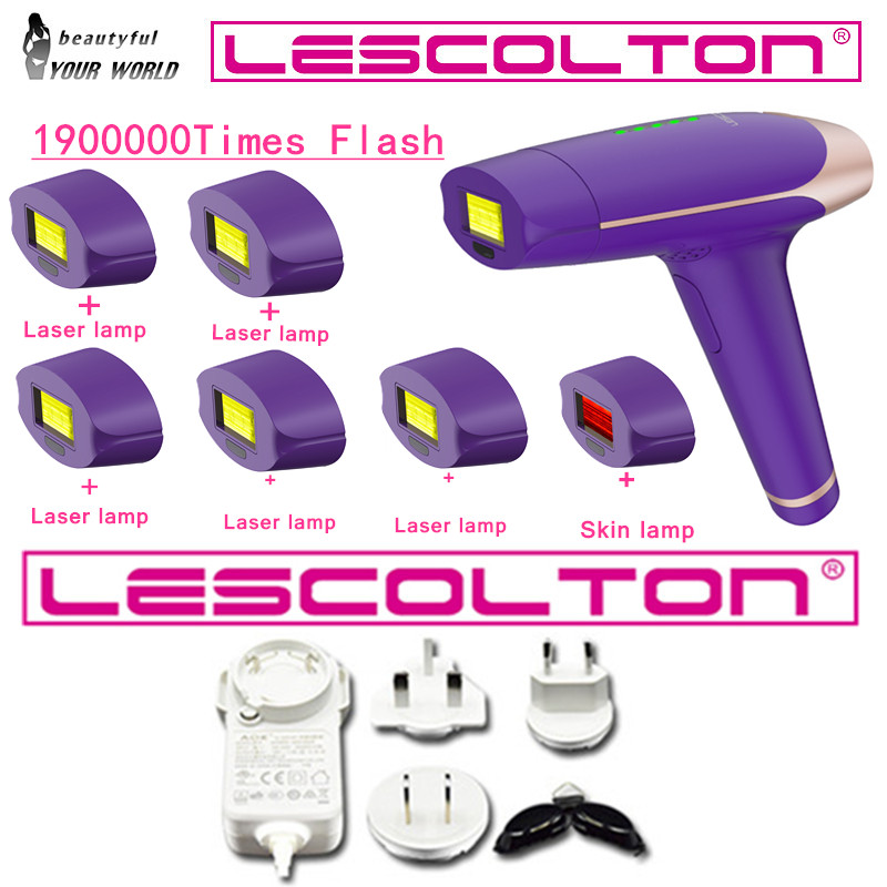 Lescolton home use 1900000 pulses IPL Laser Hair Removal machine Permanent photoepilator laser Epilator Electric depilador