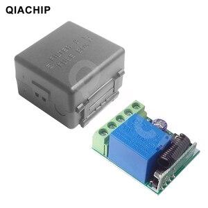 Image 5 - QIACHIP DC 12V 1 CH אלחוטי שלט רחוק ממסר מתג מודול למידה קוד DC 12V RF Superheterodyne מקלט 1CH בקר