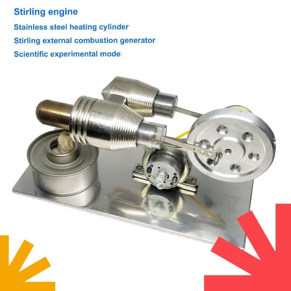DIY Stirling Motor Zubehör Edelstahlzylinder für Ersatz Labor Laborbedarf