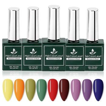 15ml Nail Gel Polish Varnish Soak Off UV LED Gel Varnish Base Coat 31 Colors For Nails Polish Quick Dry Long Lasting Nail Art недорого