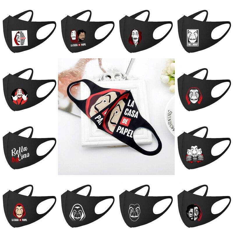 Money Heist Mask La Casa De Papel Season Cosplay Mask Face Mask Mouth Mask Breathable Naruto Mask Mascarillas Dropshipping