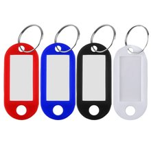 1 Pcs Plastic Cool Key Ring Tags Key Ring ID Identity Tags Rack Name Card Label Shop Price Free Shipping
