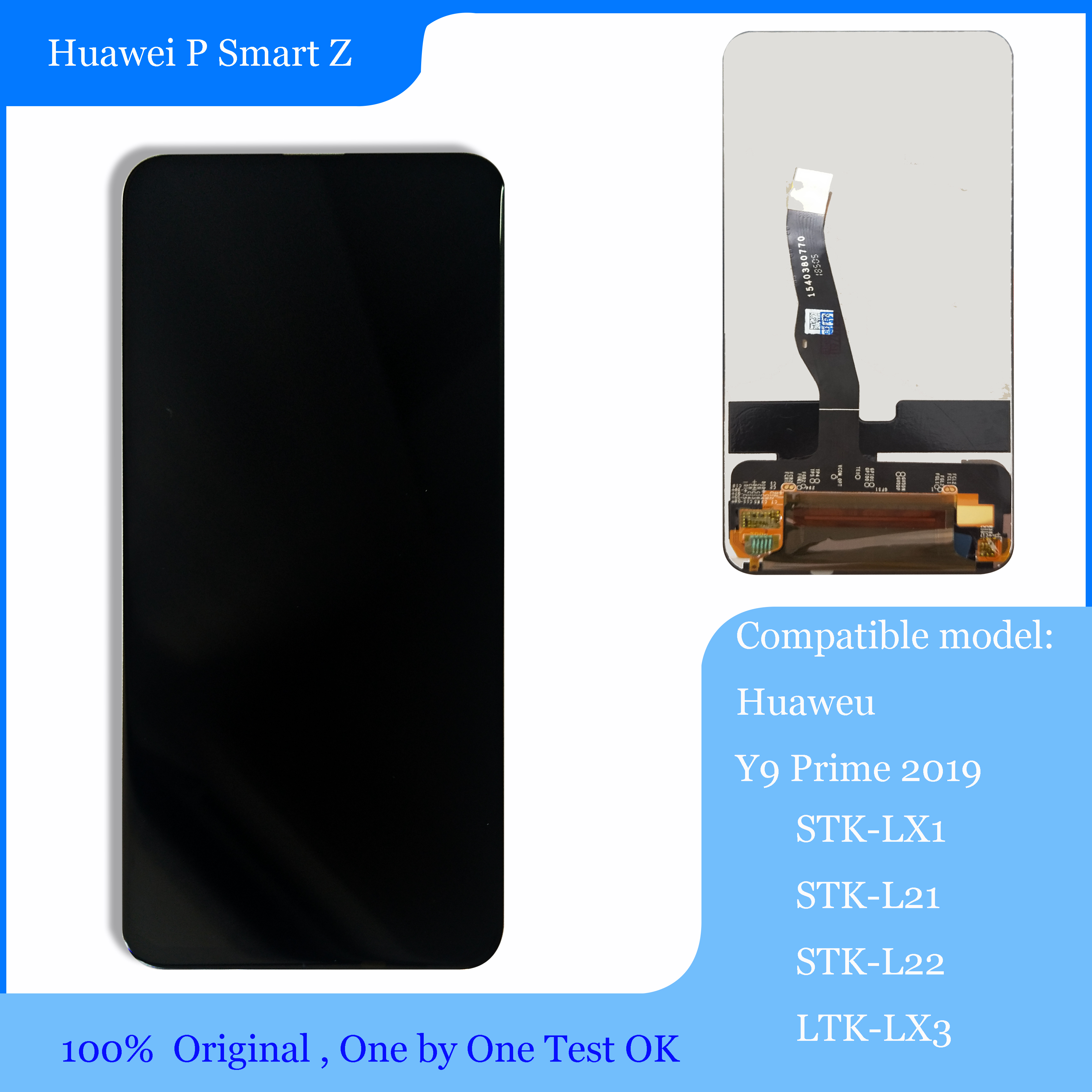 Original For <font><b>Huawei</b></font> P Smart Z / <font><b>Y9</b></font> Prime <font><b>2019</b></font> STK-LX1 STK-L21 STK-L22 LTK-LX3 <font><b>LCD</b></font> Display Touch Screen Digitizer Assembly parts image