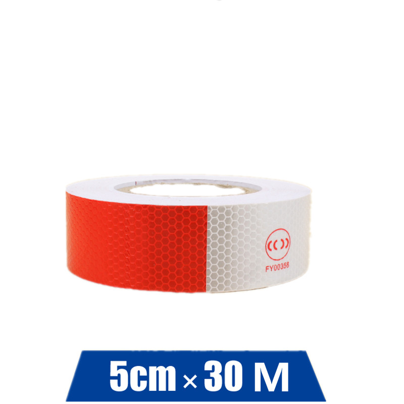 Reflective Tape Red And White Reflective Strip Body Adhesive Tape For Road Traffic Safety PVC Warning Tape At Night