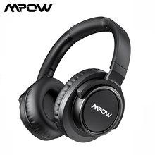 Mpow H18 kablosuz Bluetooth aşırı kulaklıklar aktif gürültü iptal kulaklık için 17m/56ft Bluetooth aralığı ve 50 saat çalma süresi