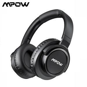 Image 1 - Mpow auriculares inalámbricos H18 con Bluetooth, dispositivo con cancelación activa de ruido, rango de 17m/56 pies y 50 horas de autonomía