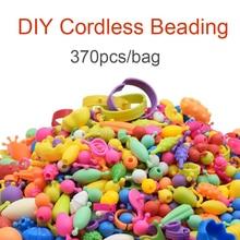 DOLLRYGA 370pcs/bag Pop Beads Toys for Girl Cordless Kids Fashion Bracelet Toy Kid Perler Beads DIY Educational Toy For Children цена 2017
