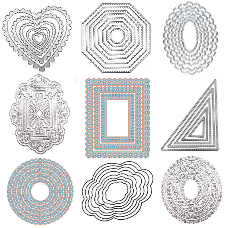 NEW Set 3 Large Decorative Circles Frames Metal Craft Cutting Dies UK SELLER