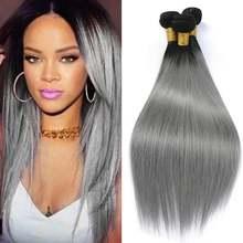 Dejavu волосы прямые 1b/серый эффектом деграде (переход от темного