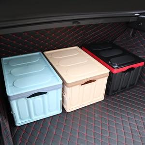 Image 2 - صندوق تخزين السيارة ، صندوق تخزين البضائع ، قابل للطي ، ملحقات داخلية متعددة الوظائف ، تصميم السيارة