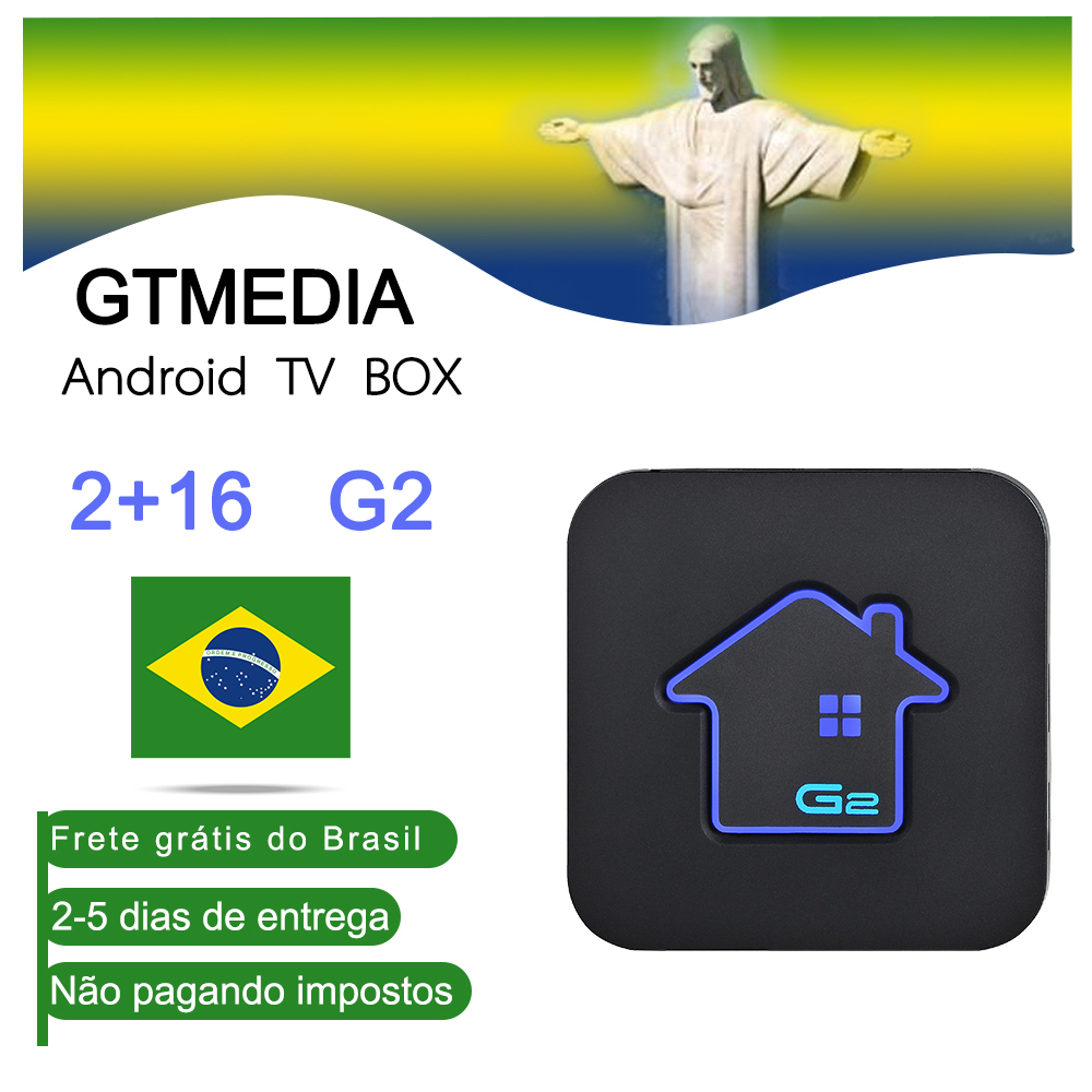 Boîtier TV Android GTmedia G2 Amlogic S905W widevine 2GBRAM + 16GBROM décodeur 4K HD H.265 2.4G lecteur multimédia Wifi boîtier TV IPTV M3U