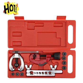 (Tropfen verschiffen) kupfer Brems Fuel Rohr Reparatur Doppel Abfackeln Stirbt Werkzeug Set Clamp Kit Rohr Cutter Für Schneiden Und Abfackeln Kupfer