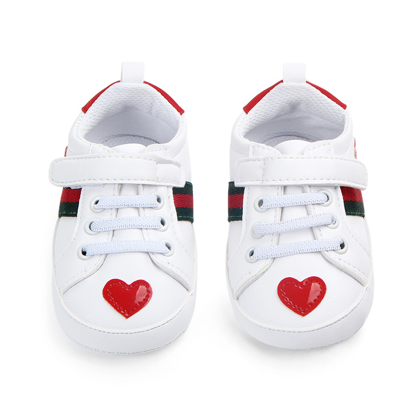 New Spring And Autumn White Shoes Soft Bottom Non-slip Baby Shoes Toddler Shoes 0-1 Years Old WJH419