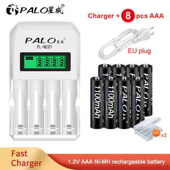 PALO 1.2V 1100mah aaa rechargeable battery NI-MH/NI-CD rechargable battery AAA rechargble battery for toys voxlink aaa battery 1 2v 1100mah 8pcs rechargeable battery pre charged recharge ni mh rechargeable battery for camera microphone