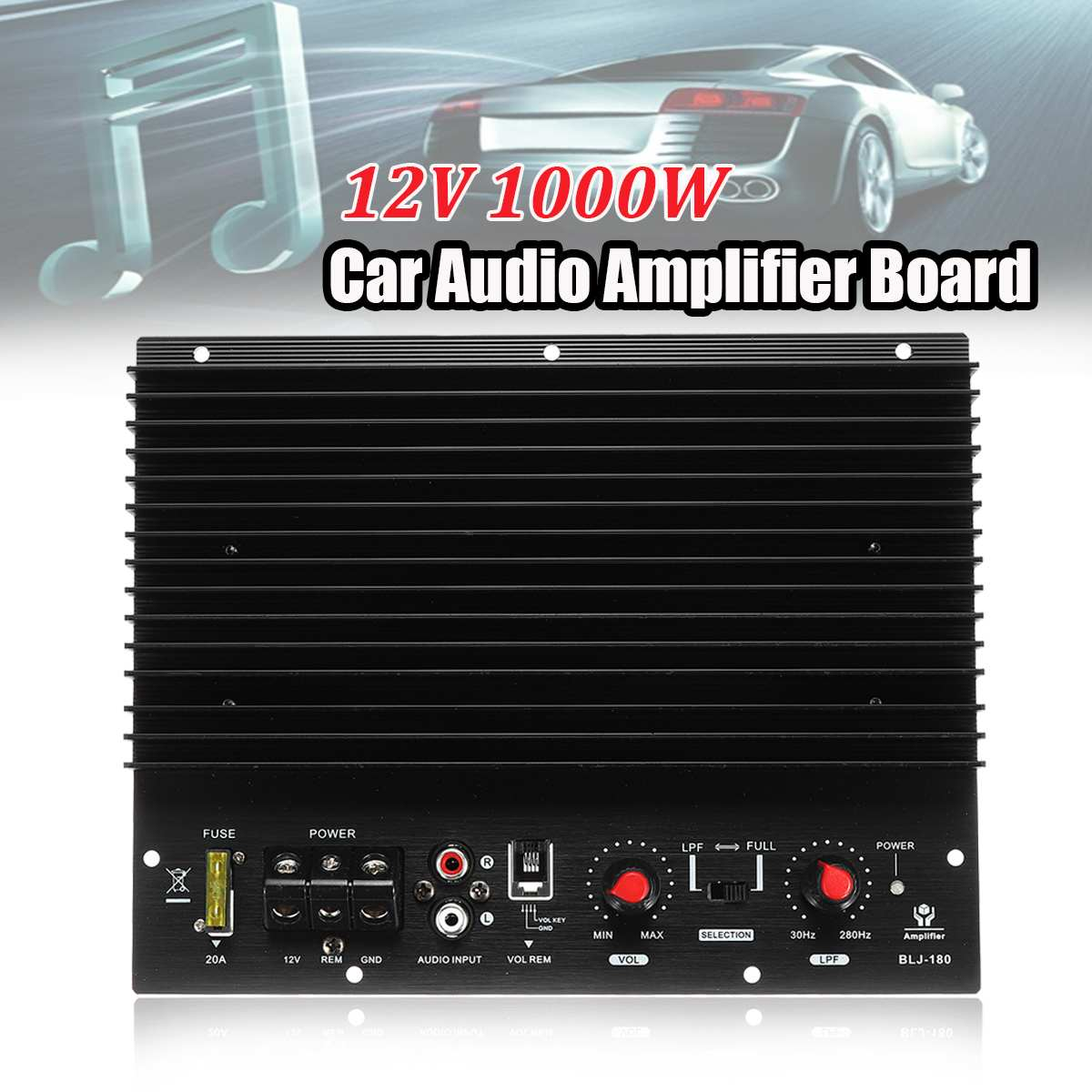 12V 1000W Car Sound Amplifier Subwoofer Amplifier Board High Power Powerful Bass Car Player Amplificador