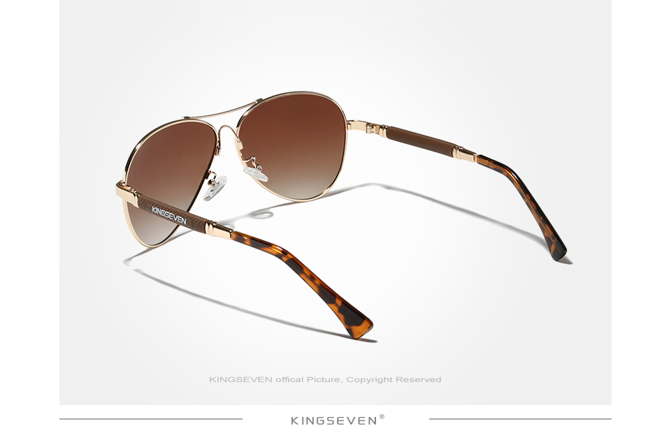KINGSEVEN 2021 New Trend Quality Titanium Alloy Men's Sunglasses Polarized Sun glasses Women Pilot Mirror Eyewear Oculos de sol