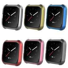 2019 Smart Watch Case for Fitbit Versa Lite Band Full Protection TPU Screen Protector