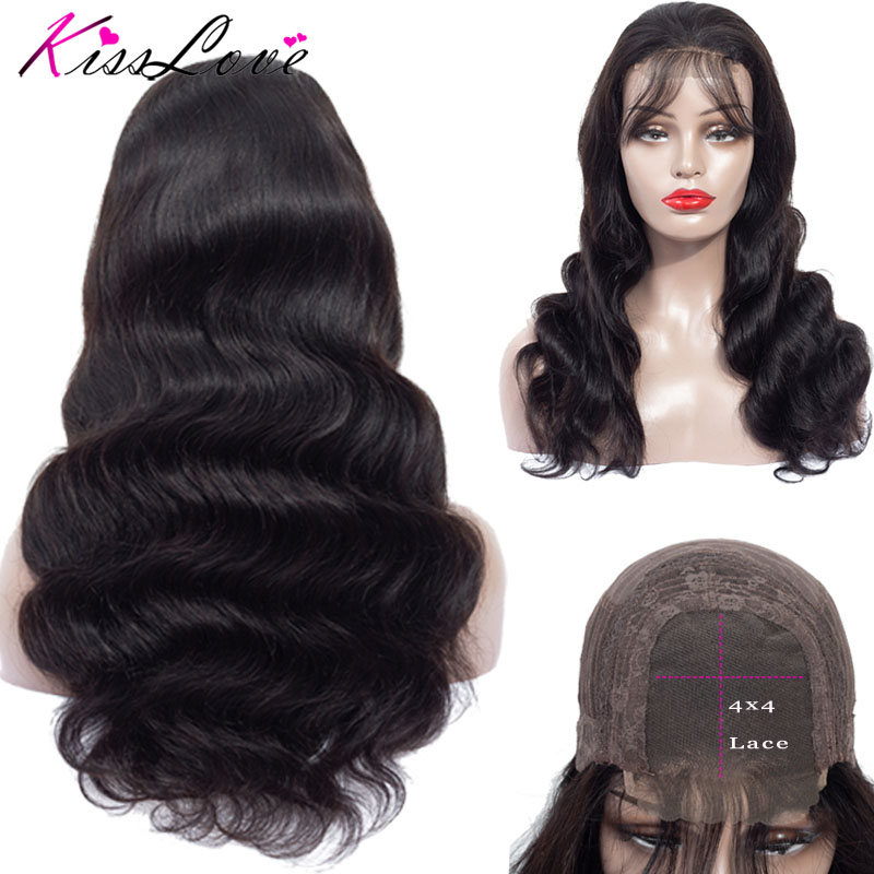 Body Wave Lace Closure Human Hair Wigs For Women Pre Plucked Hairline With Baby Hair 10-28Inch Brazilian Non-Remy Hair Wig