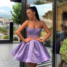 Simple Mini Short Graduation Homecoming Dresses Draped Skirt 2021 Short Purple Homecoming Cocktail Party Dress Vestido De Fiesta