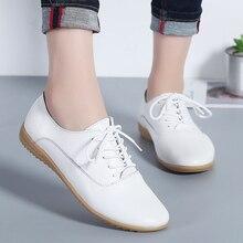 M& V/туфли на плоской подошве женские туфли на платформе со шнуровкой Кожаные Туфли-оксфорды повседневная обувь с круглым носком мягкие мокасины на нескользящей подошве