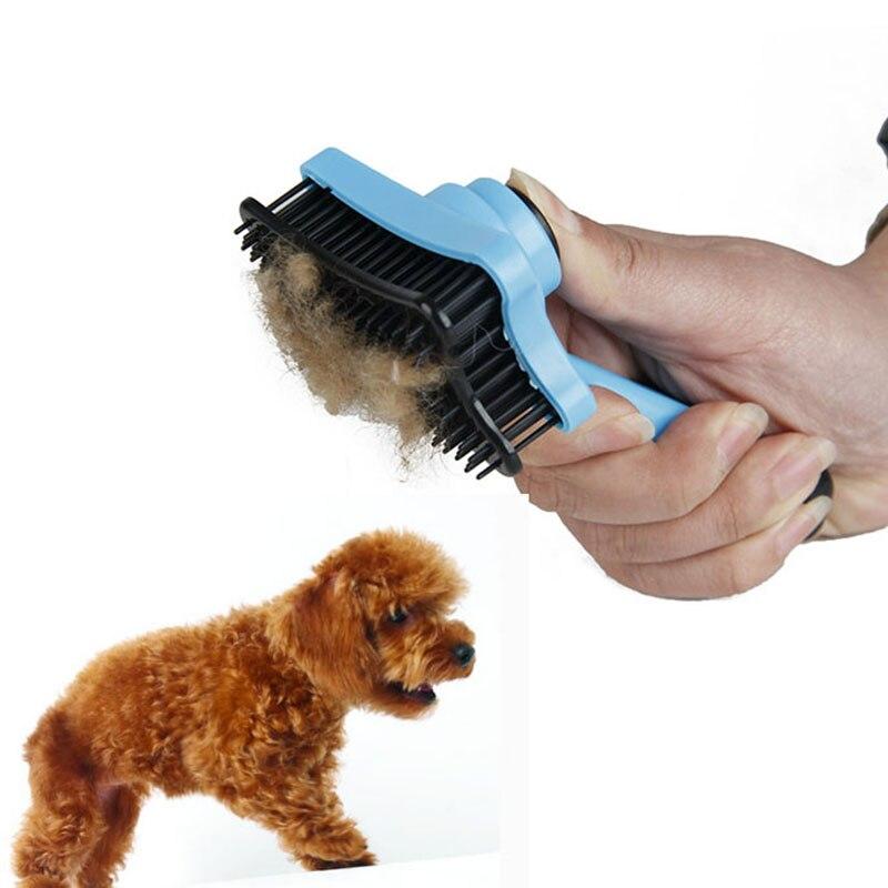font b Pet b font Dog Hair Brush Fur Shedding Dog Grooming Tool Dog Hair