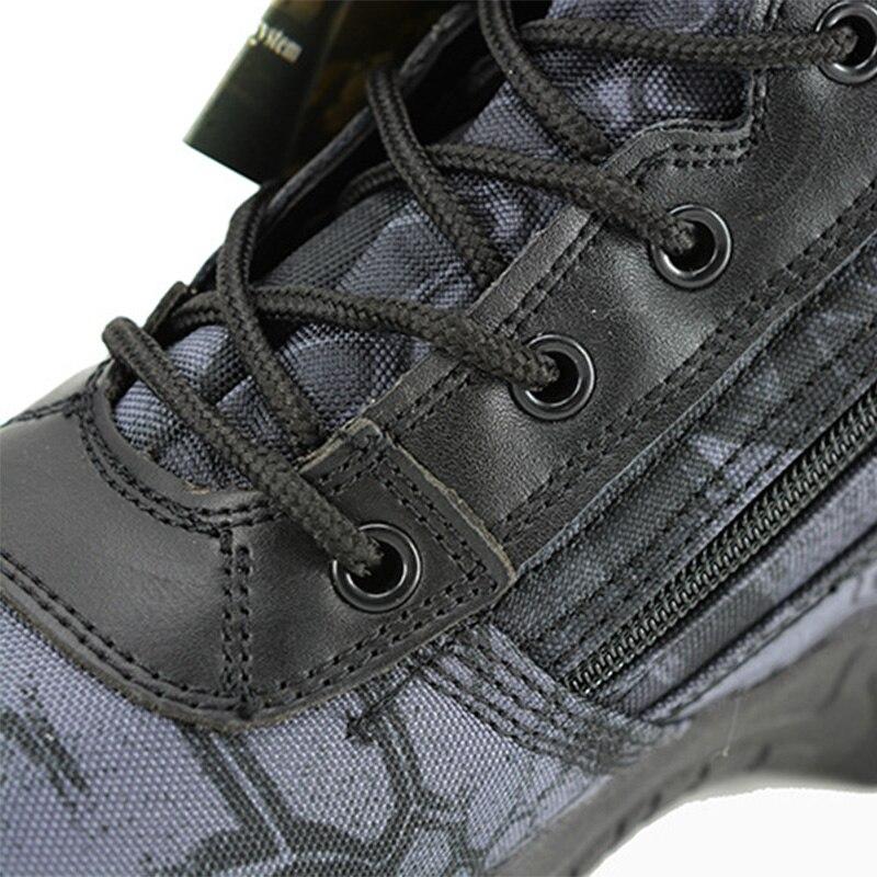 Bottes militaires Combat armée Camouflage 2019 chaussures d'hiver hommes Oxford tissu à lacets tactique botte de neige travail hommes chaussure 39-40 - 6