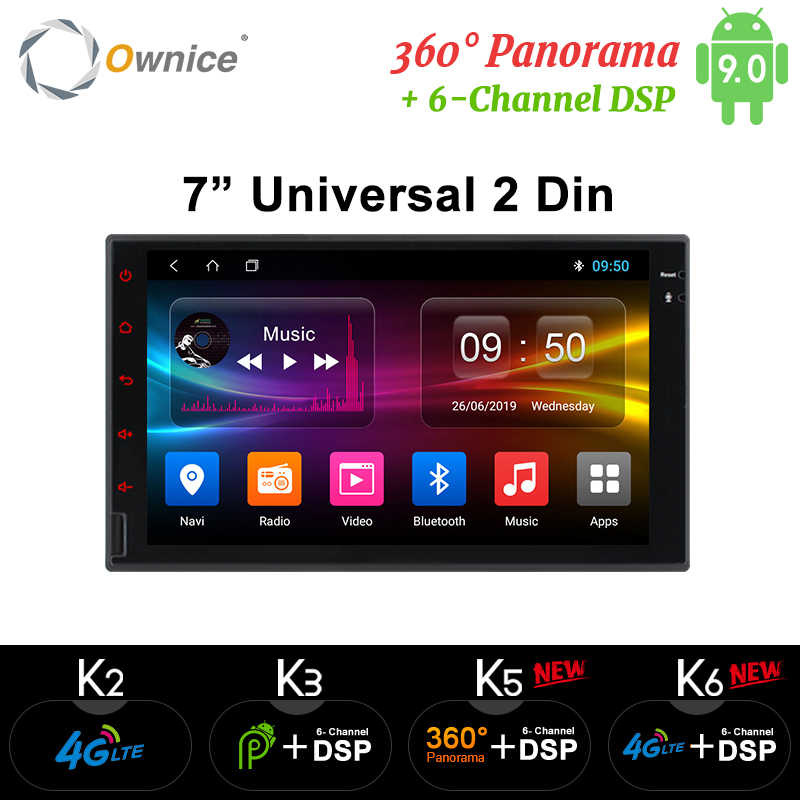Ownice K1 K2 K3 Octa 8 Core Android 2G RAM 32GB ROM 4G LTE SIM GPS 2 din Universal Radio del coche reproductor de dvd