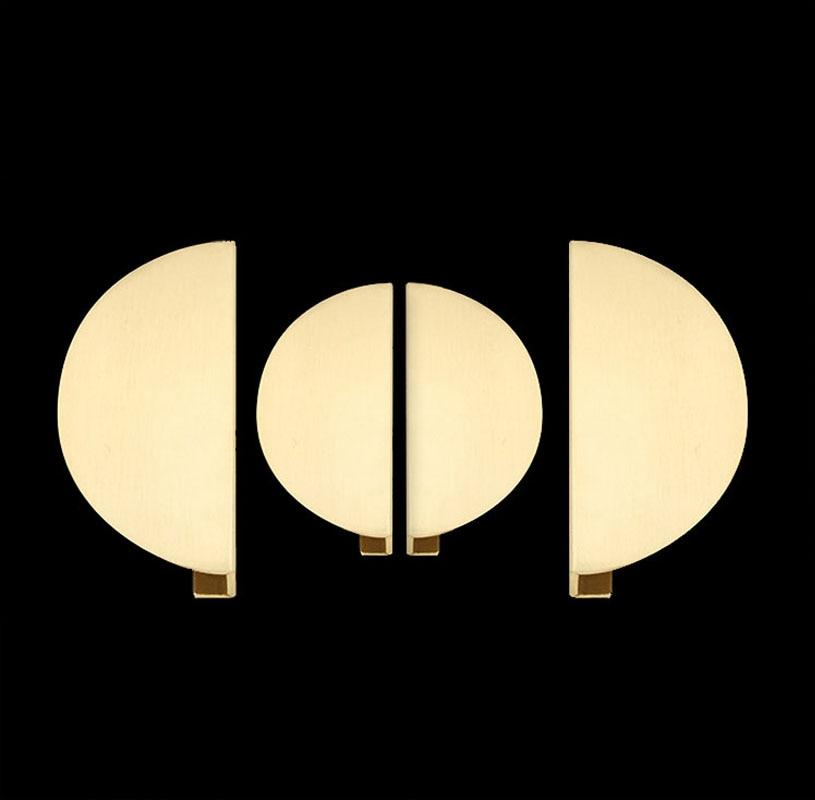 Armoire Door Handle Brass Hardware Furniture Large Round Handles Gold Cabinet Pulls Modern Kitchen / Bathroom Door Accessories