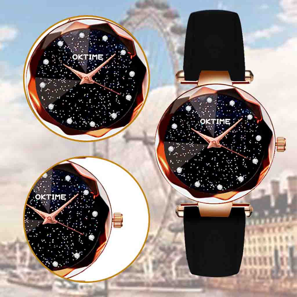 Womens Romantic Starry Sky Faux Leather Analog Quartz Watch relgio feminino Special creative leather ladies watches 2020 Gift 5