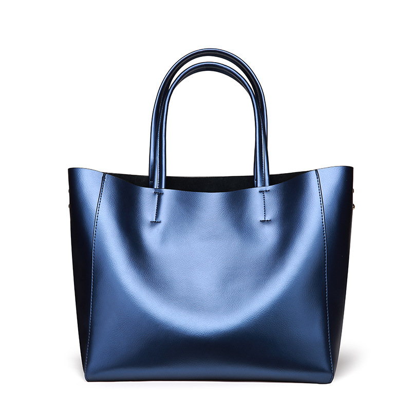 Nuove donne Europee e Americane borse in pelle di moda sacchetto di spalla di cuoio 2019 delle signore di grande capacità shopping bag - 3