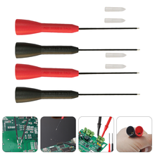 4pcs Test Leads Pin Test Probe Tips Multimeter Stainless Steel Test Needle
