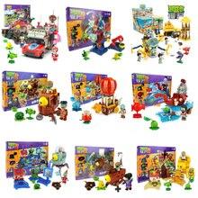 Супергерой серии Растения против Зомби игры пепельницы фигурки строительные блоки совместимы с Legoings игрушки для детей Подарки