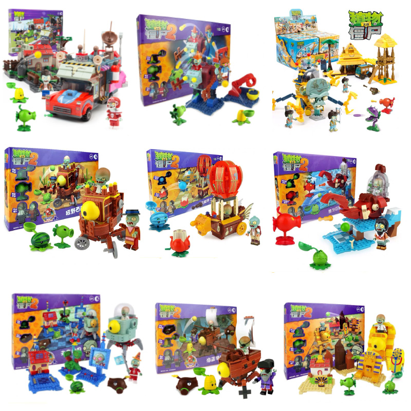 Superhero Series Plants Vs Zombies Game Peashooter Figures Building Blocks Compatible With Legoings Toys For Children Gifts