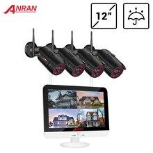 Беспроводная система видеонаблюдения ANRAN, 1080P HDD, 2 Мп, сетевой видеорегистратор, Внешняя камера видеонаблюдения, IP система безопасности, комплект видеонаблюдения, управление через приложение
