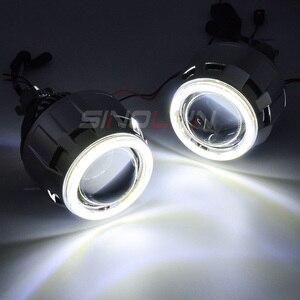 Image 5 - Sinolyn مصباح أمامي 2.5 بوصة ثنائي LED ، جهاز عرض عيون الملاك ، H4/H7/9005/9006 ، مصباح أمامي للسيارة ، مصباح ديود أوتوماتيكي ، ملحقات تحديث