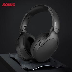 Image 5 - Somic SC2000BT Bluetooth oyun HiFi kulaklık pembe kedi kulak kulaklık 3.5mm/Bluetooth çift modlu HD Mic ile xiaomi PUBG