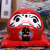 4.5 inch Japanese Ceramic Daruma Doll Lucky Charm Fortune Ornament Fengshui Zen Craft Money Box Home Tabletop Decoration Gifts 2