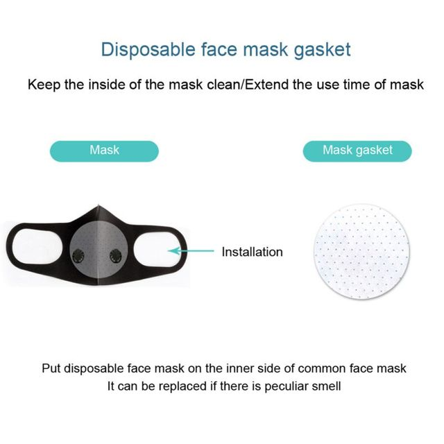 Black Double Valve mouth Mask anti dust mask Activated carbon filter Windproof Mouth-muffle proof Flu Face masks Care 5