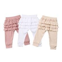 Штаны для новорожденных детей 0-3 лет, штаны для девочек с оборками, костюм принцессы для маленьких девочек, новинка года