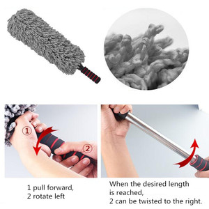 Image 4 - Retractable Microfiber Car Wax Brush Multifunction Car Duster Removing Cheaner For Furniture Cleaning Tool Microfiber Car Washer