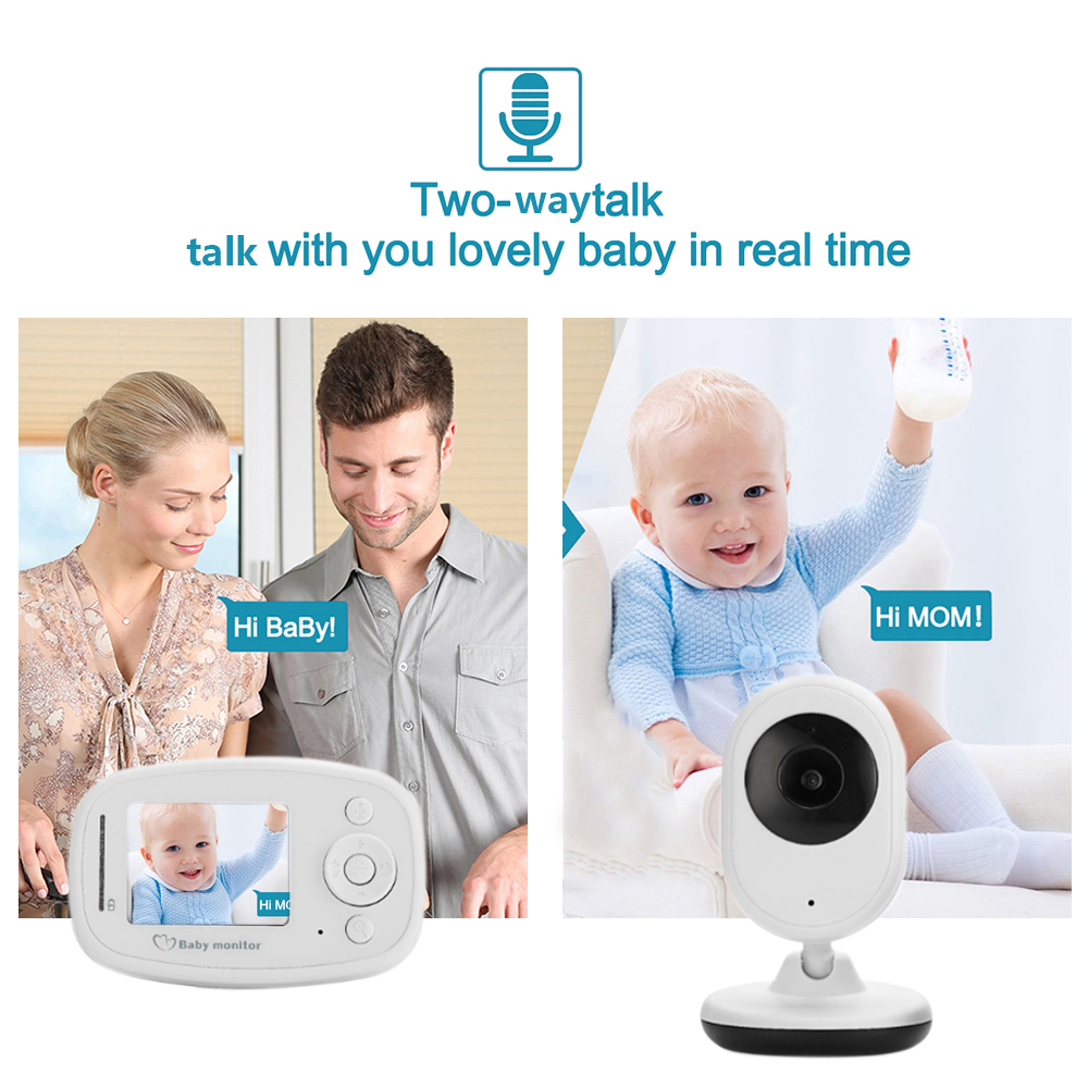 CYSINCOS Wireless Video Baby Monitor Remote Camera And LCD Screen Baby Nanny Security Camera Night Vision Temperature Monitoring