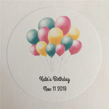 100 Pieces Custom Childs Birthday Adheive Sticker Personalized Gift Seals Decoration Round Labels