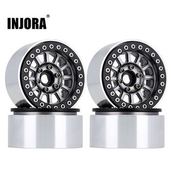 "INJORA CNC Aluminum 1.9"" Beadlock Wheel Rim for 1/10 RC Crawler Car Traxxas TRX-4 Axial SCX10 90046 AXI03007 Upgrade Parts 1"