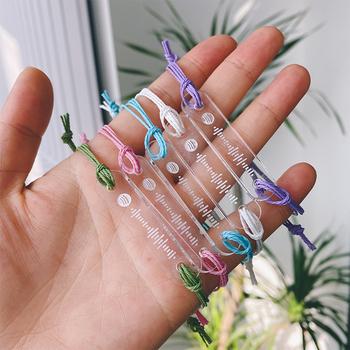 2021 akrylowe ręcznie robione na zamówienie muzyka kod Spotify bransoletka dla kobiet mężczyzn ręcznie robione liny bransoletka niestandardowy kod piosenki biżuteria tanie i dobre opinie QYDJOYAS Bransoletki z identyfikatorem Unisex Brak CN (pochodzenie) moda TRENDY Metal Łańcuszek typu kord GEOMETRIC SL-0013