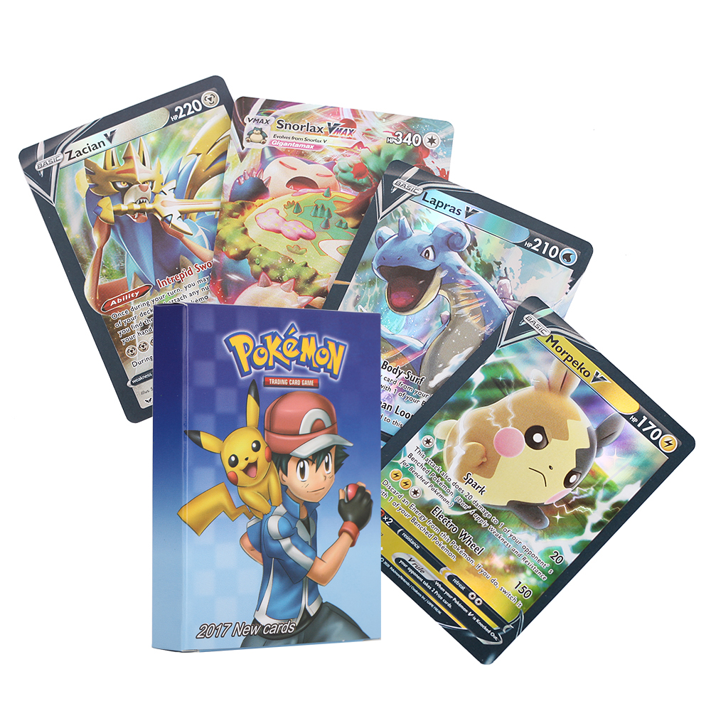 Card Pack for Poke TCG Style,Card 49V+11VMAX+39TAGTEAM+1GX Collection Cards Cartoon Game Children Trading Cards Gifts Kosuke 60Pcs Cards for Pokemon