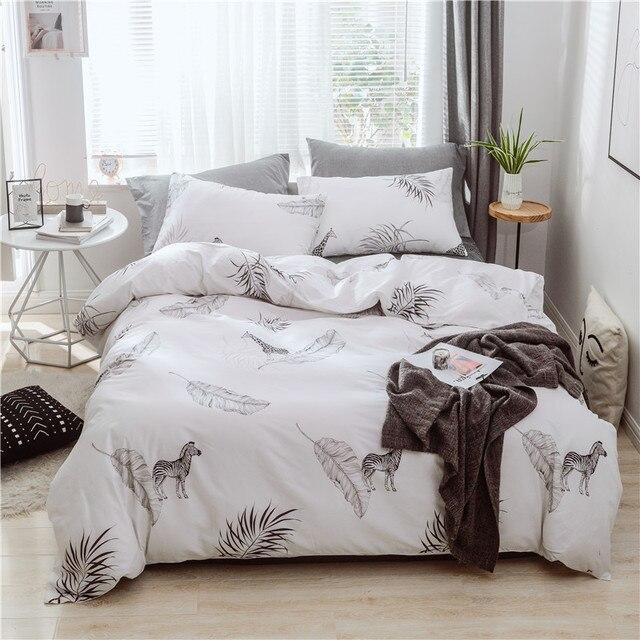 Parure de lit au motif zèbre