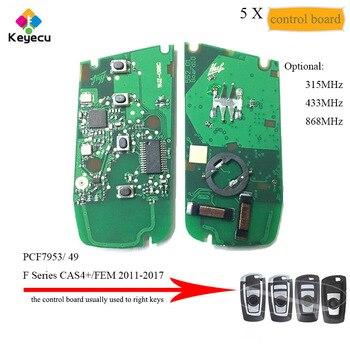 KEYECU 5PCS PCF7953 Smart Remote Control Board 315MHz YGOHUF5662, 433MHz YGOHUF5767, 868MHz YGOHUF5661 for BMW F Series CAS4/FEM