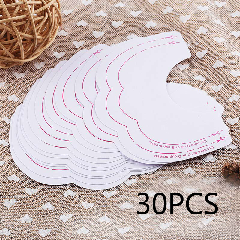 30PCS Women Fashion Sexy Bare Breast Lift Push Up Nipple Stickers Bra Accessories Beauty Toiletry Kits